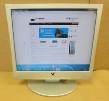 "V7 Videoseven S19PS 19"" pollici Argento LCD TFT PC COMPUTER MONITOR VGA DVI"