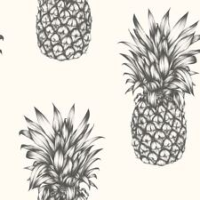 TROPICS COPACABANA PINEAPPLE WALLPAPER - BLACK WHITE - ARTHOUSE 690900