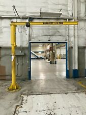 14 Ton Freestanding Base Mounted Jib Crane 10 0 Span X 10 0 Hub
