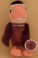 New Harley Davidson White/Brown Plush Eagle With Harley Hat