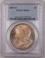 1885-O US Morgan Silver Dollar Coin $1 PCGS MS-64 Toned BR5 B