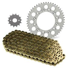 JT Sprockets and Gold Chain Kit YZ250 1999-2014 -High Quality- *14/50* Black