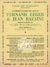 FERNAND LEGER Les Amis de l'Art Cinéma JEAN BAZAINE Ballet Mécanique DIEHL 1948