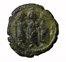 Arab-Byzantine Caliphate Heraclius Sons 7th Century AE Fals Medieval Coin