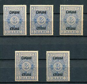Estland Stempelmarken Lot