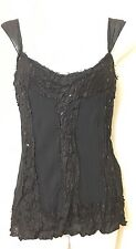 BNWT GORGEOUS PER UNA CRINKLE EFFECT LACE & SEQUINNED BODICE STYLE TOP SIZE 10