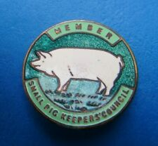 More details for  small pig keepers council member farming enamel 1940's badge by frank fattorini