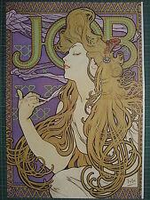 1987 ART NOUVEAU PRINT ~ ALPHONSE MARIA MUCHA ~ JOB CIGARETTE PAPERS