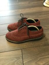 Dr martens bergundy suede brogues. size 8 with black sole rare sold out.