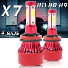 2PCS 4-Side H11 H9 LED Headlight High or Low Beam Bulbs 180W 28500LM 6000K White