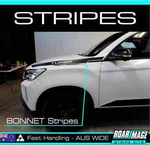 2021 Ssangyong Musso BONNET Stripes decals stickers 4x4 4WD Turbo