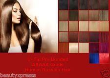Pre Bonded Keratin U Tip Remy Human Hair Extensions Russian AAAAA Grade