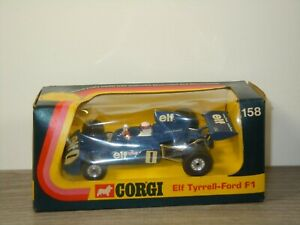 Elf Tyrell-Ford Formula 1 Racing Car - Corgi 158 England in Box *53259