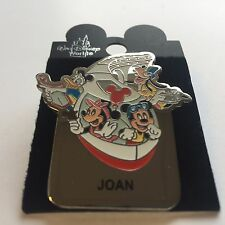 WDW - Monorail JOAN Name Pin FAB 4 Mickey Minnie Goofy Donald Disney Pin 15004