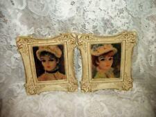 Huldah French Lady Prints Ornate Provencal Frames Vintage Mid Century Farmhouse