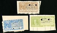 India-Joohpor Stamps 3 Revenues