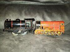 Vintage Brimtoy O Gauge Tinplate Clockwork Locomotive 67000 & Royal scot 7171