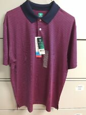 NWT! Pro Tour Cool Play Golf Shirt Pink & Blue Stripe Moisture Wicking ~ Size L