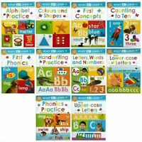 Ready Set Learn 10 Early Learning Wipe Clean Books Set Collection Colours Shapes
