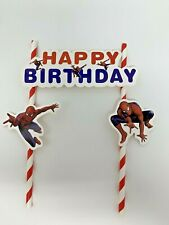 Spider-Man themed Cake Ice cream Topper Kids Birthday Party decoration diy