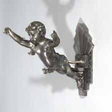 Vintage French Authentic Art Deco Sconce, Putti, Cherub, Angel