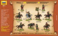 ZVEZDA MODELS 1/72 Dragoons of Peter I The Great 1701 19 UNPAINTED Figures 8072