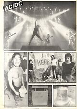 22/8/1981Pg26 15x10 Ac/dc Poster - Monsters of rock concert 1981 donnington