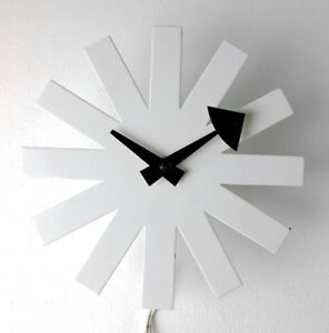 Vintage Original George Nelson Irving Harper Asterisk Clock White Mid Century