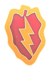 United States Army USA 25th Infantry Division Shaped Pin Badge LAST ONE