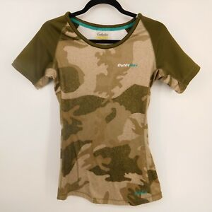 Cabelas Shirt Womens Size Small Camo Outfit Her Thermal Short Sleeve Fitted