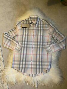 BNWT Burberry Brit Men's Check Shirt Beige L