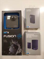 GoPro Fusion 360 Degree Digital Camera CHDHZ-103 Black Go Pro Bundle + 2 Accesor
