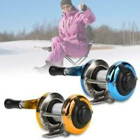 Portable 1BB Bearing Mini Spinning Fishing Reel with Wire for Winter Ice Outdoor