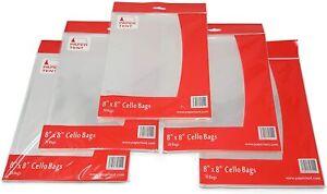 "Papertent 8"" x 8"" Cello Bags, Qty 150 (5 Packs x 30)"