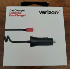 Verizon Car Charger, Lightning Fast Charge, iPhone 8 or later. or iPad or iPod