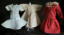Lot of 3 Small Reproduction Dresses for Hard Plastic and Vintage Artist Dolls