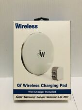 Just Wireless Qi Certified Wireless Charger Pad Wall Charger and Cable Included