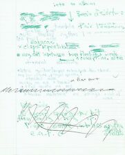 Marc Bolan Handwritten T-REX Band Notes on A4 Paper 1970's RARE AFTAL/UACC RD