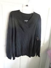 NWT - Jones New York - Black - V-Neck - Lightweight Sweater - Size 3X