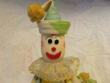 Vintage Adorable Handmade Beanbag Clown Doll