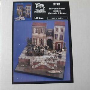 "Verlinden Productions 1/35 Kit n°2172 ""European Street Section"" Diorama"