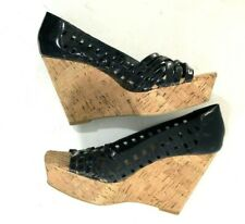 Jessica Simpson Tamandy Leather Women Wedge Shoe 8 B Business Party CUTE