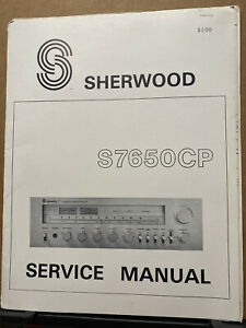 Original Service Manual for the Sherwood S-7650CP Receiver S 7650 CP