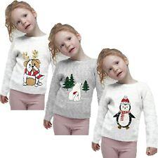 Childrens Kids Girls Christmas Novelty Cute Animal Jumper Dog Xmas Jumper