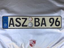ASZ BA96 Porsche 356 911T 911S 912 914 Original German License Plate,VW AUDI BMW