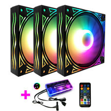 Coolmoon RGB Adjustable Color Cooling Fan 12cm LED Remote Control strip Light