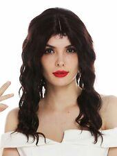 Parrucca Donna Diva di Hollywood Corto Ondulato Riga Centrale Marrone 20