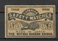 MATCHBOX LABELS-JAPAN. Flying goose, Mitsui Bussan Kaisha