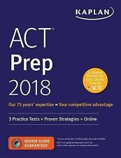 ACT PREP 2018 - KAPLAN TEST PREP (COR) - NEW PAPERBACK BOOK
