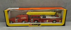 Corgi Toys Wiltshire Fire Service Gift Set Longleat 1:50 Very N Mint in Box Rare